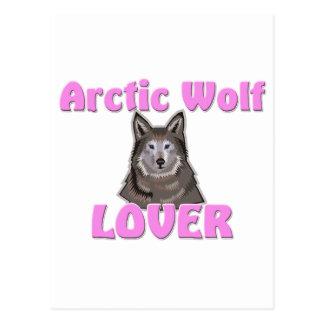 Amante ártico del lobo tarjeta postal