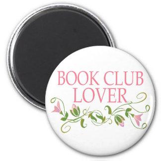 Amante bonito del círculo de lectores imán