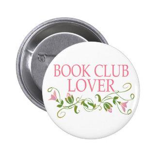 Amante bonito del círculo de lectores pin redondo 5 cm