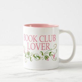Amante bonito del círculo de lectores taza dos tonos
