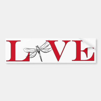 Amante Bumpersticker de la libélula Pegatina Para Auto
