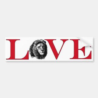 Amante Bumpersticker del león Etiqueta De Parachoque