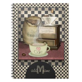 Amante Café del café personalizado Cuaderno