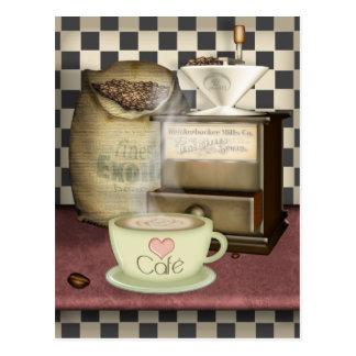 Amante Café del café Postal