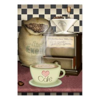Amante Café del café Tarjetas De Visita Grandes