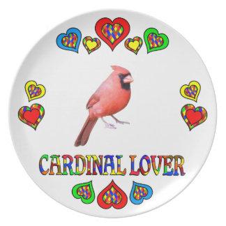 Amante cardinal platos