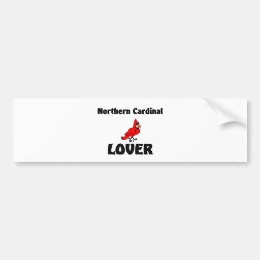 Amante cardinal septentrional etiqueta de parachoque
