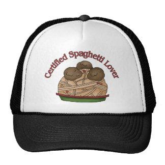 Amante certificado de los espaguetis gorra