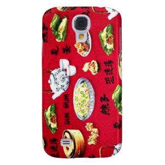 Amante chino enrrollado de Dimsum de la comida Funda Para Galaxy S4