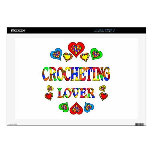 Amante Crocheting Calcomanía Para Portátil
