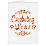 Amante Crocheting Tarjetas