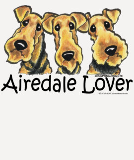 Amante de Airedale Terrier Polera