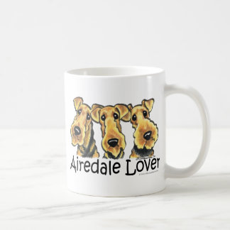 Amante de Airedale Terrier Taza Básica Blanca