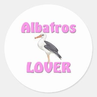 Amante de Albatros Pegatina Redonda