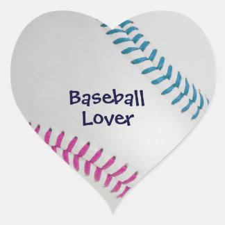 Amante de Baseball_Color Laces_fu_tl_Baseball Pegatina En Forma De Corazón