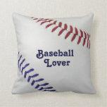 Amante de Baseball_Color Laces_nb_dr_Baseball Cojines