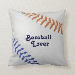 Amante de Baseball_Color Laces_og_bl_Baseball Cojines
