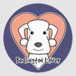 Amante de Bedlington Etiqueta Redonda