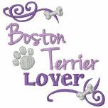 Amante de Boston Terrier Sudadera Bordada Encapuchada