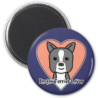 Amante de Boston Terrier Imán Para Frigorifico