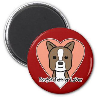 Amante de Boston Terrier Imanes Para Frigoríficos