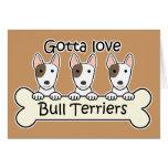 Amante de bull terrier tarjetas