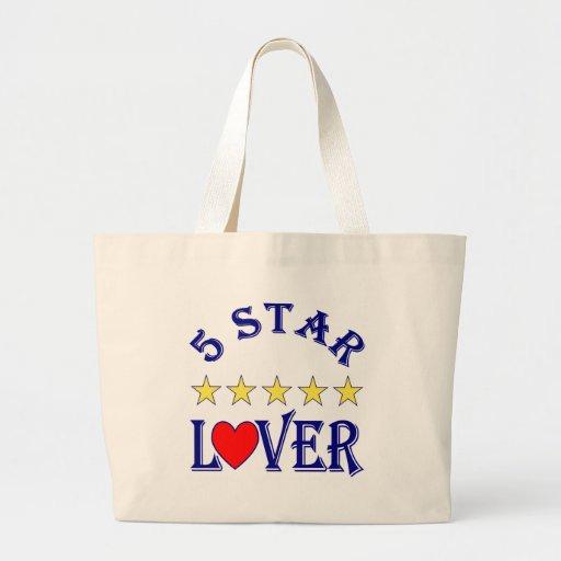 amante de cinco estrellas (azul) bolsas de mano
