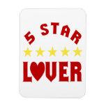 Amante de cinco estrellas imán de vinilo