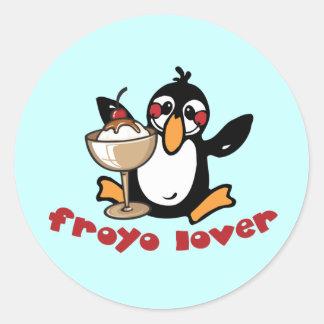 Amante de Froyo Pegatina Redonda