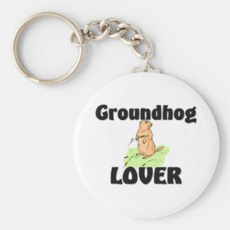 Amante de Groundhog Llavero Personalizado