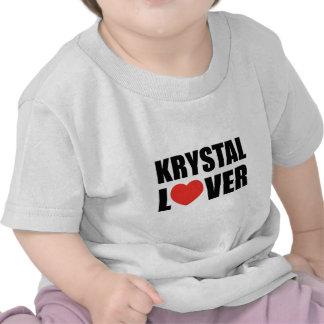 Amante de Krystal Camisetas