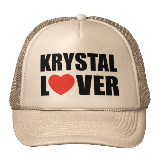Amante de Krystal Gorras