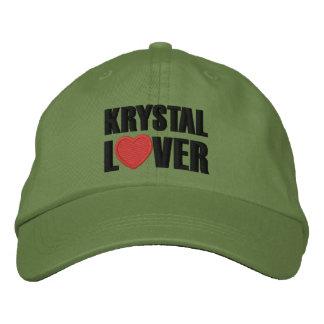 Amante de Krystal Gorra Bordada