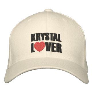Amante de Krystal Gorras Bordadas