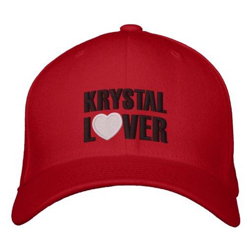 Amante de Krystal Gorra De Béisbol Bordada