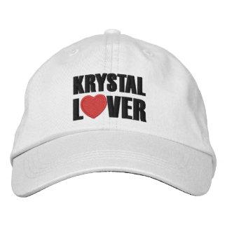 Amante de Krystal Gorra De Beisbol Bordada