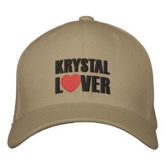 Amante de Krystal Gorras De Béisbol Bordadas