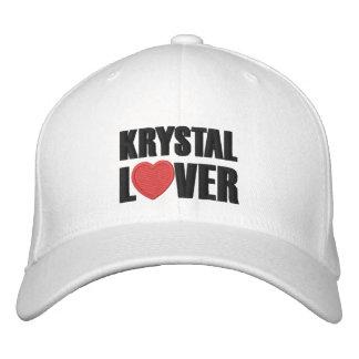Amante de Krystal Gorras De Beisbol Bordadas