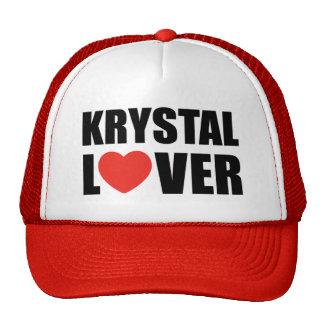 Amante de Krystal Gorros Bordados