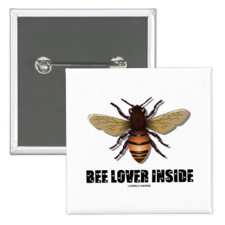 Amante de la abeja dentro pins