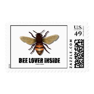 Amante de la abeja dentro timbres postales