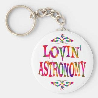 Amante de la astronomía llavero redondo tipo pin