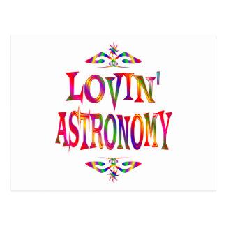 Amante de la astronomía postales