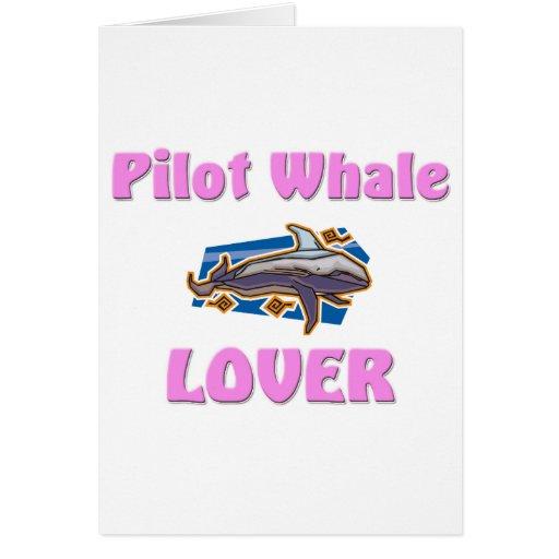 Amante de la ballena experimental tarjeta de felicitación