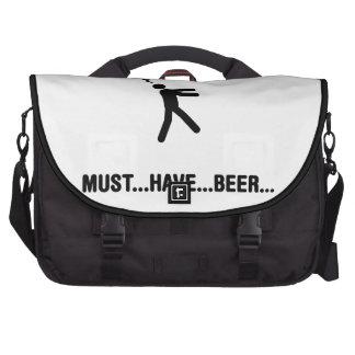 Amante de la cerveza bolsas de portátil