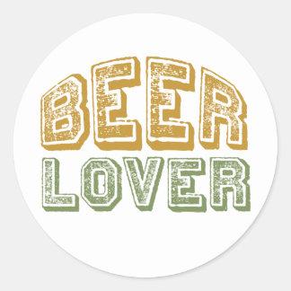 Amante de la cerveza etiquetas