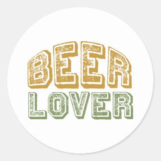 Amante de la cerveza pegatina