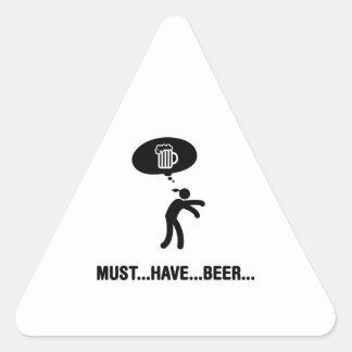 Amante de la cerveza pegatina triangulo personalizadas