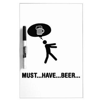 Amante de la cerveza pizarras blancas