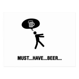 Amante de la cerveza tarjetas postales
